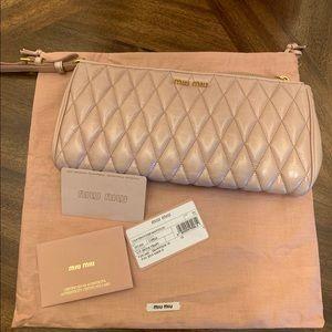 Miu Miu women's clutch handbag wallets purse pink
